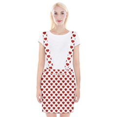 Emoji Heart Shape Drawing Pattern Suspender Skirt