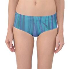 Pattern Mid-Waist Bikini Bottoms