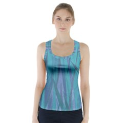 Pattern Racer Back Sports Top