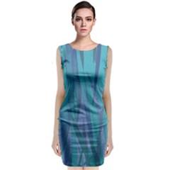 Pattern Sleeveless Velvet Midi Dress
