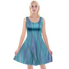 Pattern Reversible Velvet Sleeveless Dress