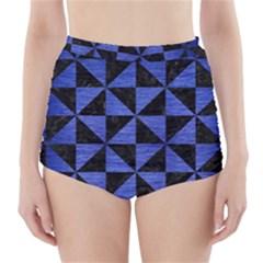 TRI1 BK-MRBL BL-BRSH High-Waisted Bikini Bottoms