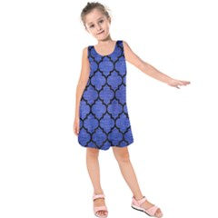 TIL1 BK-MRBL BL-BRSH (R) Kids  Sleeveless Dress