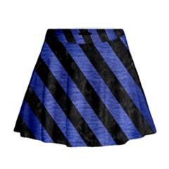 STR3 BK-MRBL BL-BRSH (R) Mini Flare Skirt