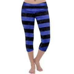 STR2 BK-MRBL BL-BRSH Capri Yoga Leggings
