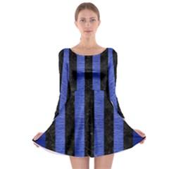 STR1 BK-MRBL BL-BRSH Long Sleeve Skater Dress
