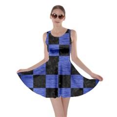 SQR1 BK-MRBL BL-BRSH Skater Dress