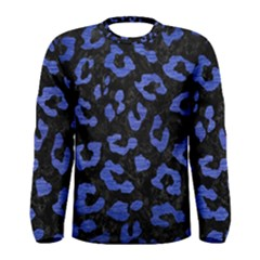 Skin5 Black Marble & Blue Brushed Metal (r) Men s Long Sleeve Tee