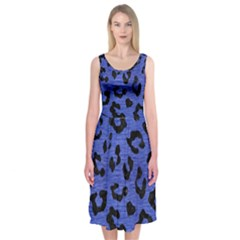 SKN5 BK-MRBL BL-BRSH Midi Sleeveless Dress
