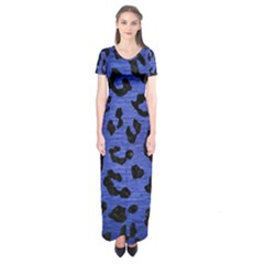 SKN5 BK-MRBL BL-BRSH Short Sleeve Maxi Dress