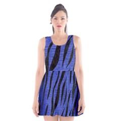 SKN3 BK-MRBL BL-BRSH (R) Scoop Neck Skater Dress