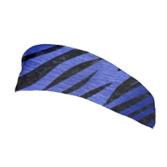 Skin3 Black Marble & Blue Brushed Metal (r) Stretchable Headband