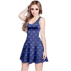 SCA2 BK-MRBL BL-BRSH (R) Reversible Sleeveless Dress