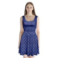 SCA2 BK-MRBL BL-BRSH (R) Split Back Mini Dress