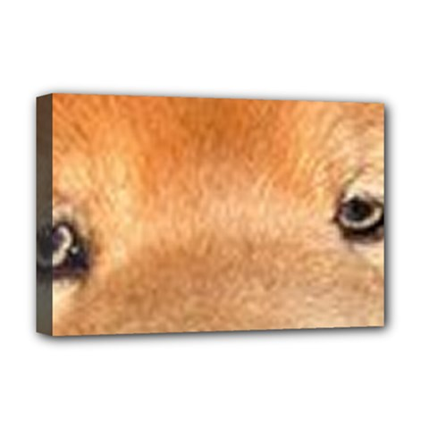 Chow Chow Eyes Deluxe Canvas 18  x 12