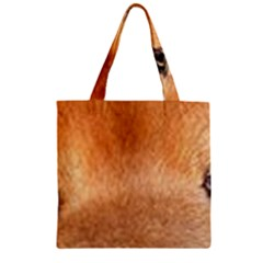 Chow Chow Eyes Zipper Grocery Tote Bag