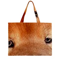 Chow Chow Eyes Zipper Mini Tote Bag
