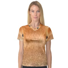 Chow Chow Eyes Women s V-Neck Sport Mesh Tee