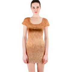 Chow Chow Eyes Short Sleeve Bodycon Dress