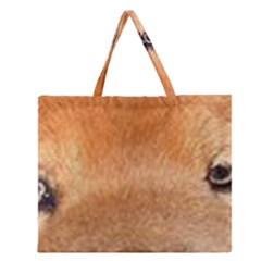 Chow Chow Eyes Zipper Large Tote Bag