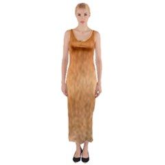 Chow Chow Eyes Fitted Maxi Dress
