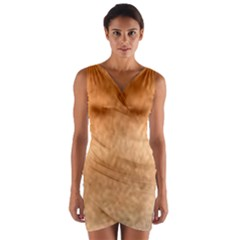 Chow Chow Eyes Wrap Front Bodycon Dress