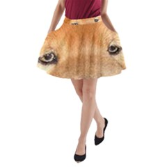 Chow Chow Eyes A-Line Pocket Skirt