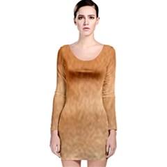 Chow Chow Eyes Long Sleeve Velvet Bodycon Dress