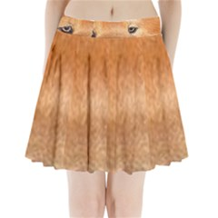 Chow Chow Eyes Pleated Mini Skirt
