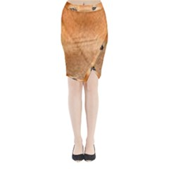 Chow Chow Eyes Midi Wrap Pencil Skirt