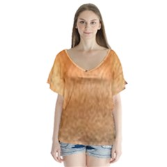 Chow Chow Eyes Flutter Sleeve Top