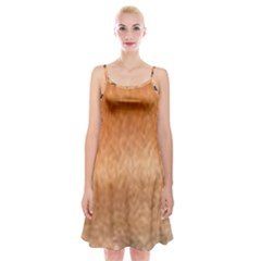 Chow Chow Eyes Spaghetti Strap Velvet Dress