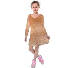 Chow Chow Eyes Kids  Long Sleeve Velvet Dress