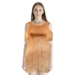 Chow Chow Eyes Shoulder Cutout Velvet  One Piece