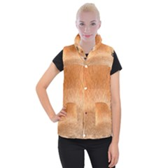 Chow Chow Eyes Women s Button Up Puffer Vest