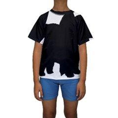 Chow Chow Silo Black Kids  Short Sleeve Swimwear