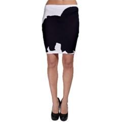 Chow Chow Silo Black Bodycon Skirt