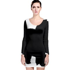 Chow Chow Silo Black Long Sleeve Bodycon Dress