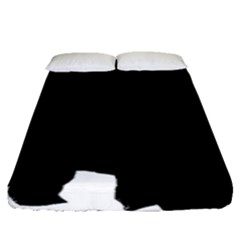 Chow Chow Silo Black Fitted Sheet (Queen Size)