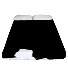 Chow Chow Silo Black Fitted Sheet (King Size)