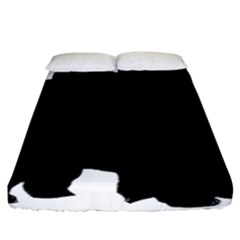 Chow Chow Silo Black Fitted Sheet (California King Size)