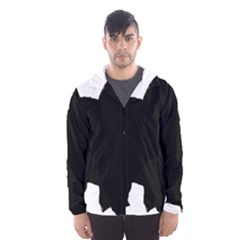 Chow Chow Silo Black Hooded Wind Breaker (Men)