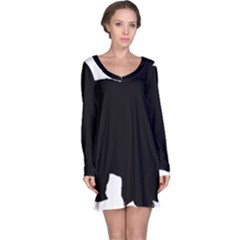 Chow Chow Silo Black Long Sleeve Nightdress