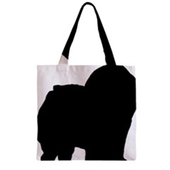 Chow Chow Silo Black Zipper Grocery Tote Bag