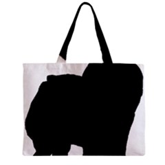 Chow Chow Silo Black Zipper Mini Tote Bag