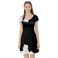 Chow Chow Silo Black Short Sleeve Skater Dress