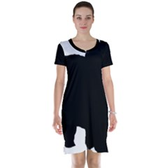 Chow Chow Silo Black Short Sleeve Nightdress