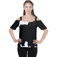 Chow Chow Silo Black Women s Cutout Shoulder Tee