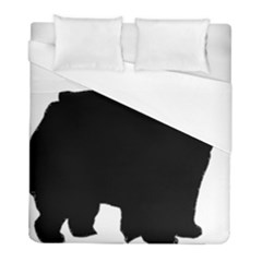 Chow Chow Silo Black Duvet Cover (Full/ Double Size)