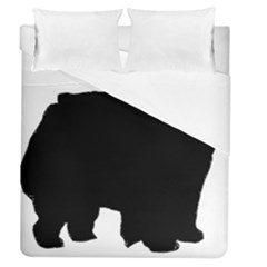 Chow Chow Silo Black Duvet Cover (Queen Size)